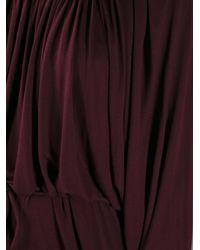 Lanvin Purple Belted Dress