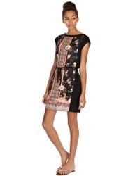 Oasis Multicolor Scarf Print Tshirt Dress