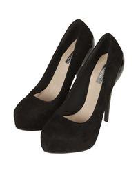 TOPSHOP Black Sabrina Cup Heel Platform Shoes
