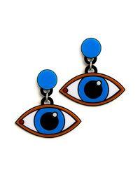 Yazbukey | Blue Eyes Earrings | Lyst
