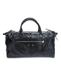 Balenciaga Black Lariat Squash Bag for men