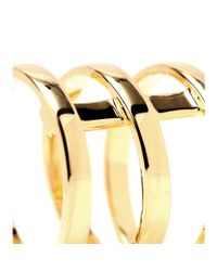 Campbell | Metallic Tri Bar Gold-Plated Ring | Lyst