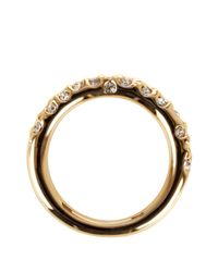 Karen Millen - Metallic Crystal Sprinkle Ring - Lyst