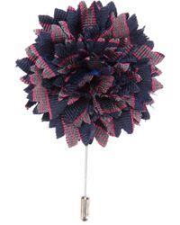 Lanvin Blue Flower Boutonniere for men