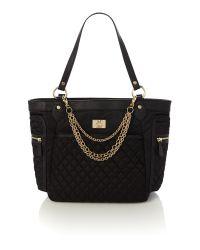 Love Moschino Chains Black Tote Bag