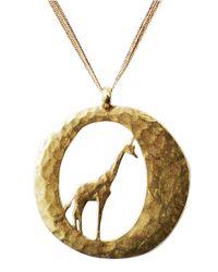 Lucky Brand - Metallic Gold Tone Metal Giraffe Necklace - Lyst