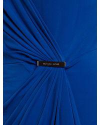 MICHAEL Michael Kors Blue Cap Sleeved Wrap Dress