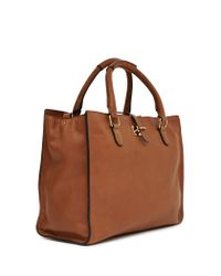 Reiss Brown Joyce Large Leather Tote Bag
