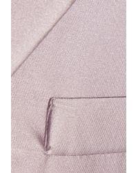 Rochas Purple Satin Coat