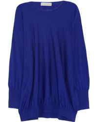Stella McCartney | Blue Wool and Silk-Blend Sweater | Lyst