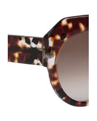 Thierry Lasry Brown Seducty Dframe Acetate Sunglasses
