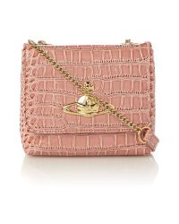 Vivienne Westwood Natural Chancery Pink Small Crossbody Bag