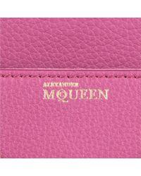 Alexander McQueen Pink Heroine Mini Leather Crossbody Bag