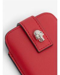 Alexander McQueen Red Skull Leather Iphone 4s/5 Holder