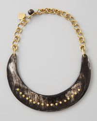 Ashley Pittman Black Kaba Collar Necklace Dark Horn