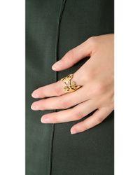 Aurelie Bidermann Metallic Tangerine Ring