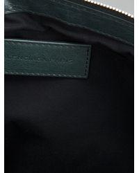 Balenciaga Gray Clip Clutch for men