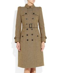 Burberry Prorsum Natural Wooltweed Trench Coat