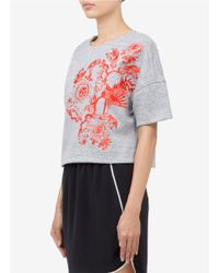 Elizabeth and James Gray Mira Embroidery Cotton-blend Sweater