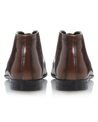 Howick Brown Angle Plain Front Lace Boot for men