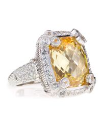 Judith Ripka - Metallic Olivia Canary Cubic Zirconia Ring Size 7 - Lyst