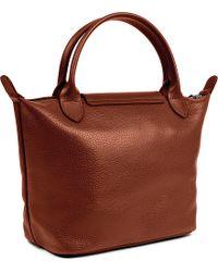Longchamp Brown Veau Foulonne Leather Handbag