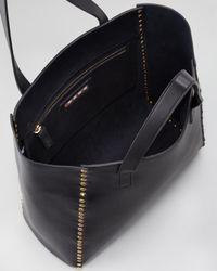 Marni Studded Shopper Tote Bag Deep Blue
