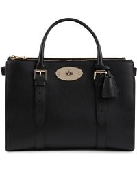 Mulberry Black Bayswater Doublezip Silky Calf Leather Tote