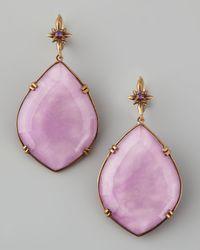 Stephen Dweck - Marquise Drop Earrings Purple - Lyst