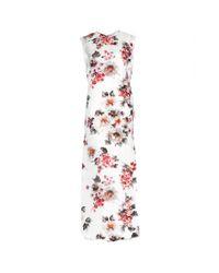 Acne Studios - White Palm Gazare Floralprint Silk Gown - Lyst