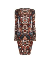 Alexander McQueen Multicolor Stained Glass Print Minidress