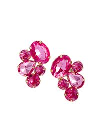 ASOS | Pink Party Jewel Earrings | Lyst