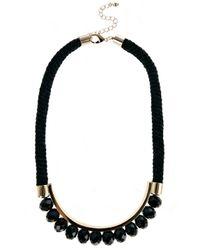Coast | Black Cord Bead Necklace | Lyst