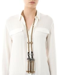 Lanvin - White Pearl Tassel Necklace - Lyst