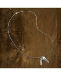 Denim & Supply Ralph Lauren - Metallic Feather Charm Necklace - Lyst