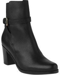 L.K.Bennett Black Dionne Leather Ankle Boots