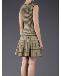 Ohne Titel Natural Grid Pattern Dress