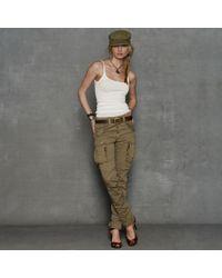 RRL - Green Skinny Cargo Pant - Lyst