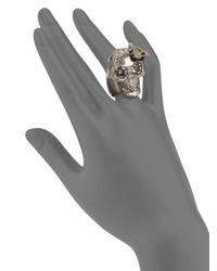 Alexander McQueen - Metallic Bee & Skull Cocktail Ring - Lyst