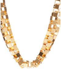 ASOS - Metallic Wide Flat Link Necklace - Lyst