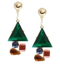 ASOS - Multicolor Diamond Drop Earring - Lyst