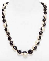 Carolee | Black Optical Illusions Bold Two Tone Necklace 27 | Lyst