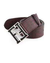 Fendi Purple Logo College Belt for men