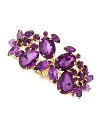 Fragments - Purple Amethyst Stone Cluster Bracelet - Lyst