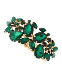 Fragments - Emerald Green Stone Bracelet - Lyst