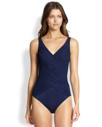 Gottex Blue Onepiece Chrystalis Swimsuit