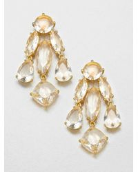 kate spade new york | Metallic Faceted Statement Chandelier Earrings | Lyst