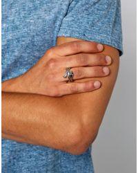 KR3W - Metallic Coiled Ring for Men - Lyst