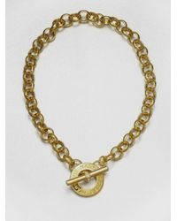 Marc By Marc Jacobs | Metallic Chain Necklace | Lyst