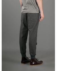 Mauro Grifoni Gray Tapered Track Trouser for men
